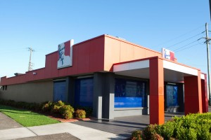 KFC Ingleburn with blockout window shutters