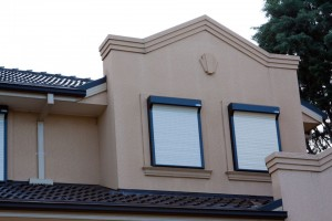 dormer windows with bulletproof window roller shutters